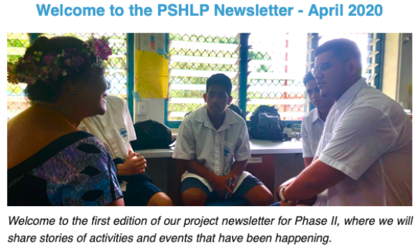 PSHLP Newsletter April 2020