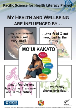 My health and wellbeing - Tonga ENGLISH