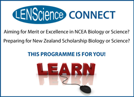 LENScience Connect - Aiming for Merit or Excellence in NCEA Biology or Science? Preparing for New Zealand Scholarship Biology or Science? This programme is for you! LEARN.