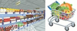 virtual supermarket trolley image